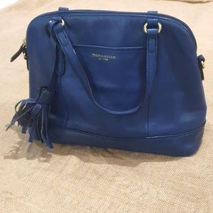 Leather Tignanello Cow hide blue handbag style number 320117